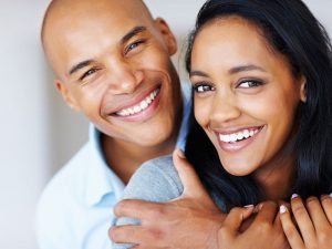 A couple with Cosmetic dentistry treatment